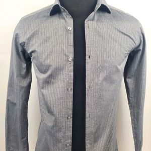 Hugo Boss Button Up Gray Dress Shirt Size 15